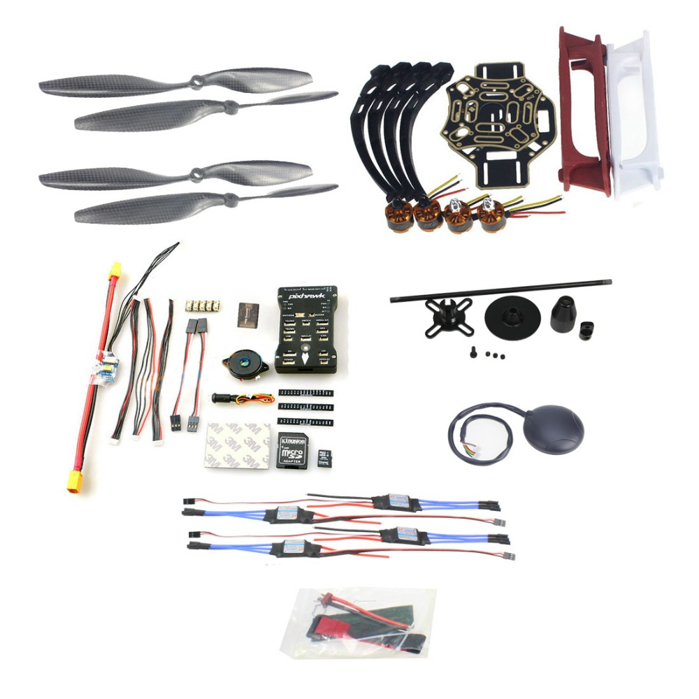 DIY FPV Drone Model 4-axle Aircraft Kit HJ 450 Frame PX4 Flight Control 920KV Motor GPS 1045 Props No Remote controller Battery