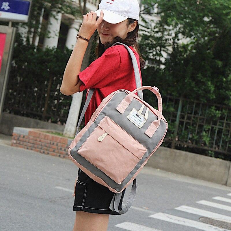 HTB1El2bKXmWBuNjSspdq6zugXXau Yogodlns Campus Women Backpack School Bag for Teenagers College Canvas Female Bagpack 15inch Laptop Back Packs Bolsas Mochila