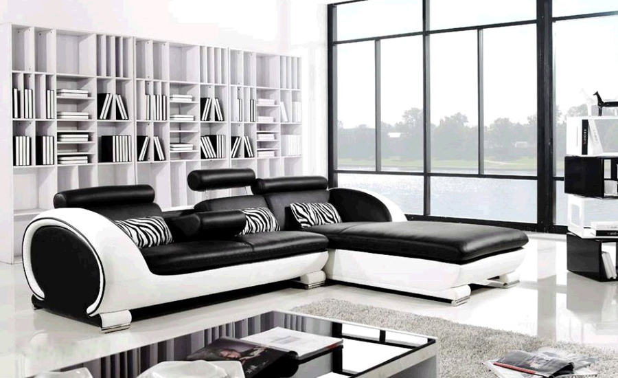 Modern Sofa Design Small L Shaped Sofa Set Settee Corner Leather Sofa  Living Room Couch Factory Price Furniture Sofa Set  In Living Room Sofas  From ...