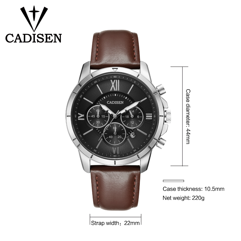 Herreure CADISEN Top Hot Fashion Sport Mærke Luksus Quartz Watch - Mænds ure - Foto 3