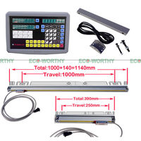 EU Stock Digital Readout Display Meter for Milling Lathe Machine Linear Scale 2 Axis DRO