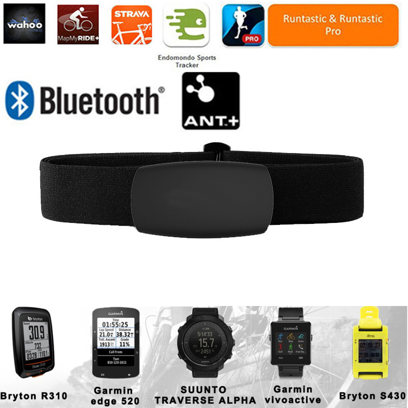 ANT Bluetooth Heart Rate Monitor Polar Garmin Wahoo Heart Rate Chest Sensor Strap Belt For Runtastic Strava Endomondo Ant+ Watch
