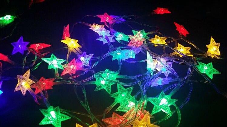 Nouveau 100 m LED bande de ficelle 600 étoiles LED vacances noël mariage rideau décoration lumières lampes - 3