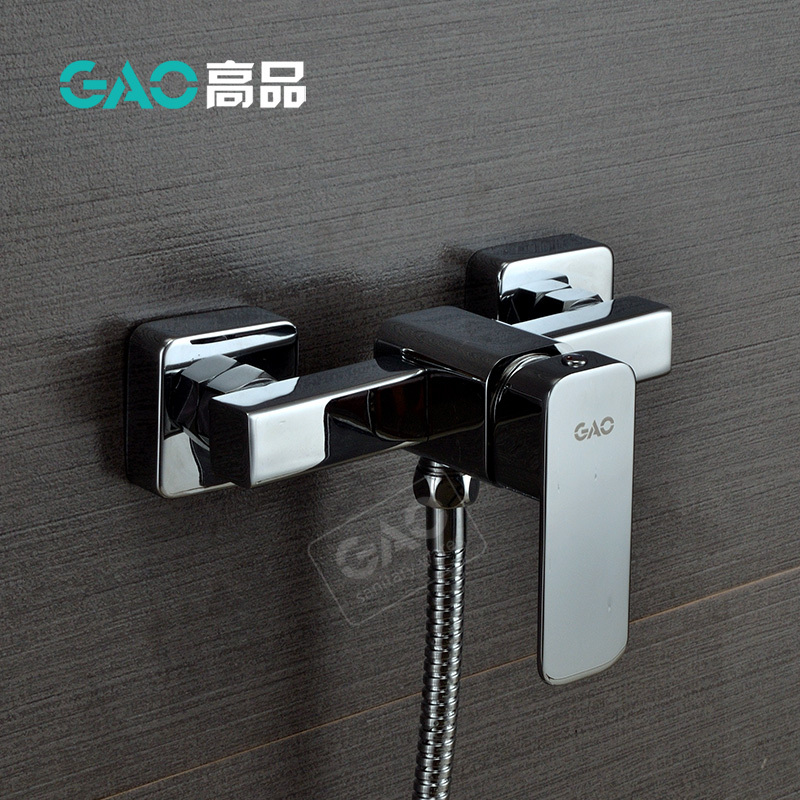 Free Shipping Wall Mounted Bathtub Faucet, Bathtub Shower Mixer, Wall Mounted Chrome Finish Shower Set, Shower Tap, Wholesale free shipping new fashion brass chrome bathtub faucet wall mounted bathroom mixer valve mixer shower set
