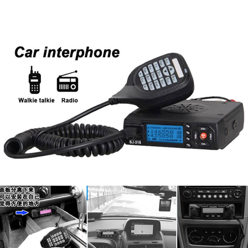 Vehemo Mini Dual Band Mobile Radio VHF/UHF Transceiver 200CH Two-way-radio Car Radio Sister KT8900 KT-8900R UV-25HX car dual band 25w 256ch scan ctcss 2 way mobile radio walkie talkie intercomunicador bluetooth para for car bus vehicle truck