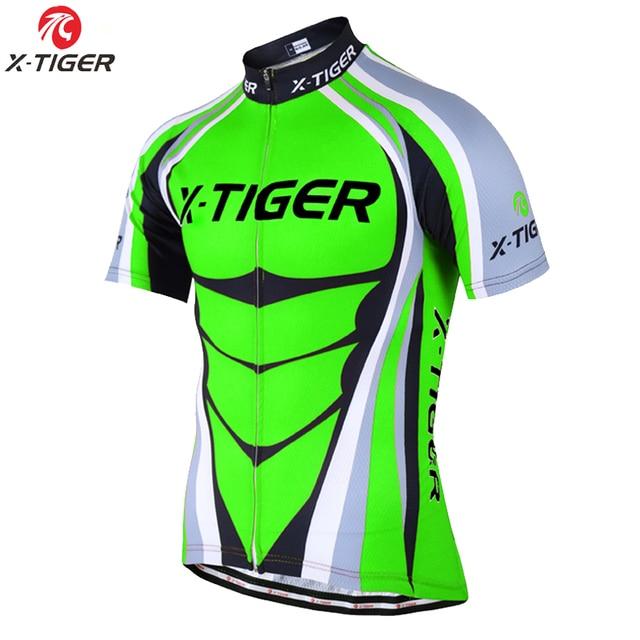 X TIGER farine vert maillots de cyclisme été vélo de montagne vêtements de cyclisme vtt course vélo vêtements vêtements vêtements de cyclisme