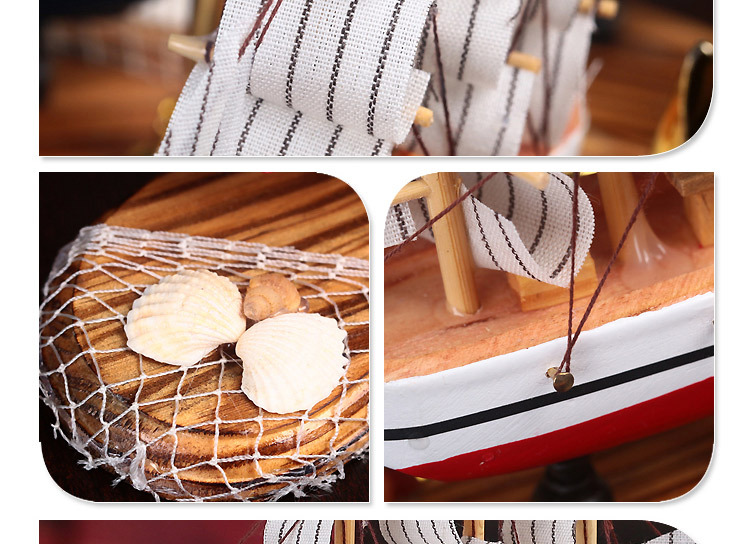 Wooden Sailing Ship Handmade Carved Model Boat