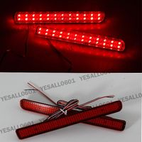 CYAN SOIL BAY 2X LED Lens Rear Bumper Reflector Brake Light For Land Rover Discovery LR3 LR4