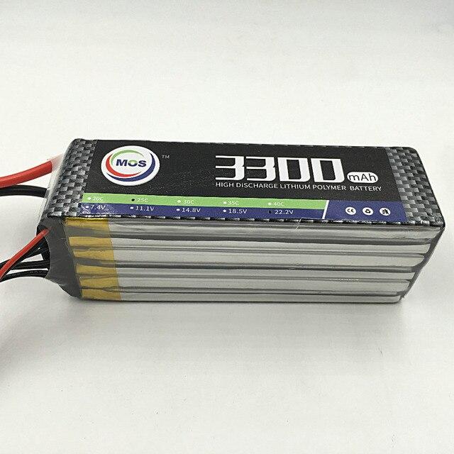 MOS 6 S lipo аккумулятор 22.2 В 3300 мАч 40C Для rc самолет бесплатная доставка