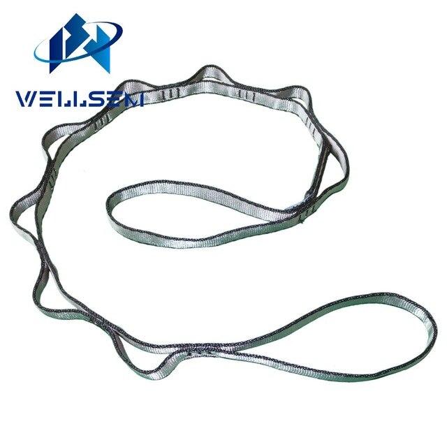 Wellsem 1 шт., удлиняющий ремешок для йоги, веревка, ромашка для йоги, складной гамак для кемпинга, скалолазания, спорта