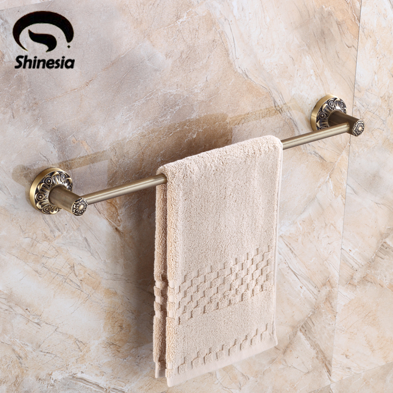 Classical Bathroom Solid Brass Towel Rack Single Towel Bar Bathroom Accessory Antique Brass classical bathroom solid brass towel rack single towel bar bathroom accessory antique brass