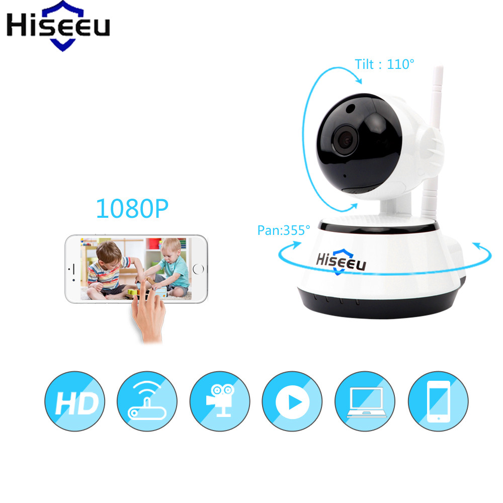 Hiseeu Security Camera Wireless IP Camera HD Mini CCTV Camera Audio Record Surveillance Baby Monitor Night Vision Dropshipping fpv 1 2ghz 100mw 4ch wireless audio