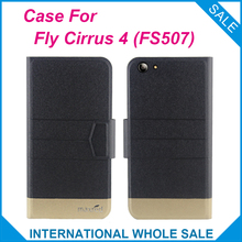 Hot! Fly Cirrus 4 FS507 Case 5 Colors High quality Top quality new style flip leather case For Fly Cirrus 4 (FS507)