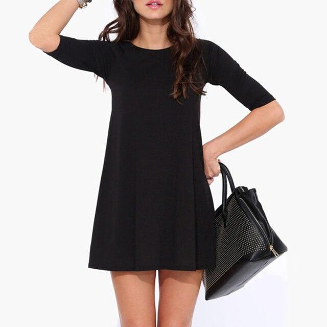 Летнее черное платье фото