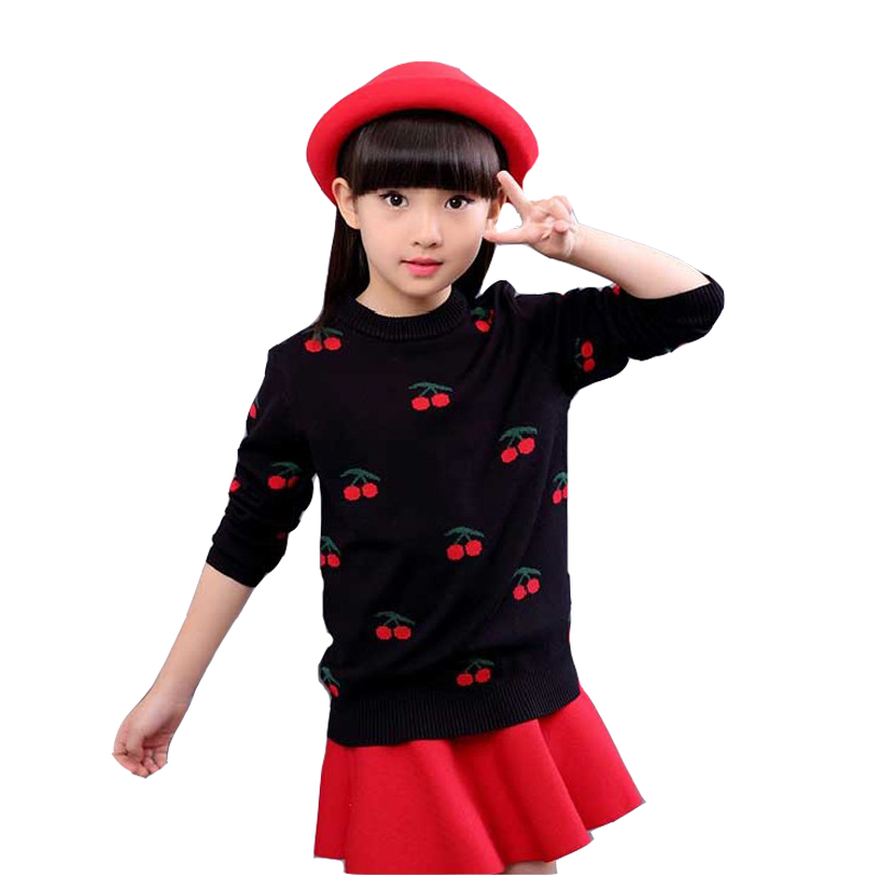 Baby Cartoon Sweaters For Girls Children Clothing 2018 Autumn Winter Knitted Sweaters Girls Tops Toddlers Clothes 18M 2 4 6 8 12 tetra rubin корм для всех видов рыб для улучшения окраса пак 15г