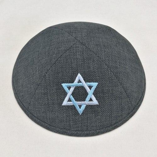 Custom products 19cm Jewish Beanies Kippot Kippa Yarmulke Kipa Jewish kippah kullies