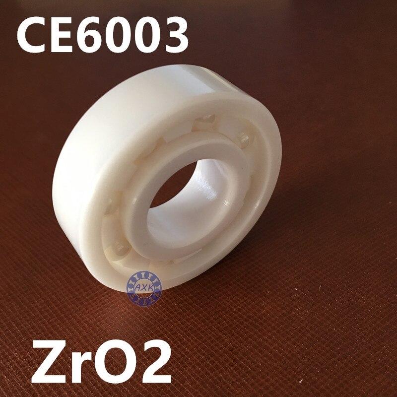 Full Ceramic Bearing 6003 17x35x10 mm Ball Bearings Non-magnetic Insulating PTFE Cage ABEC 3 цена