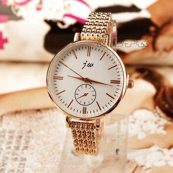 f9af6de92dec Venta caliente mujeres de la manera pulsera de acero relojes de oro rosa  lujo pequeño Dial señoras vestido de pulsera 2018 nuevo reloj de alta