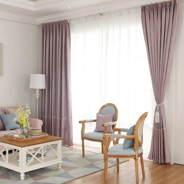 Double Jacquard Window Curtains Bedroom Luxury Classic Blinds Geometric Thicken Drapery Panels Decor Fabric For
