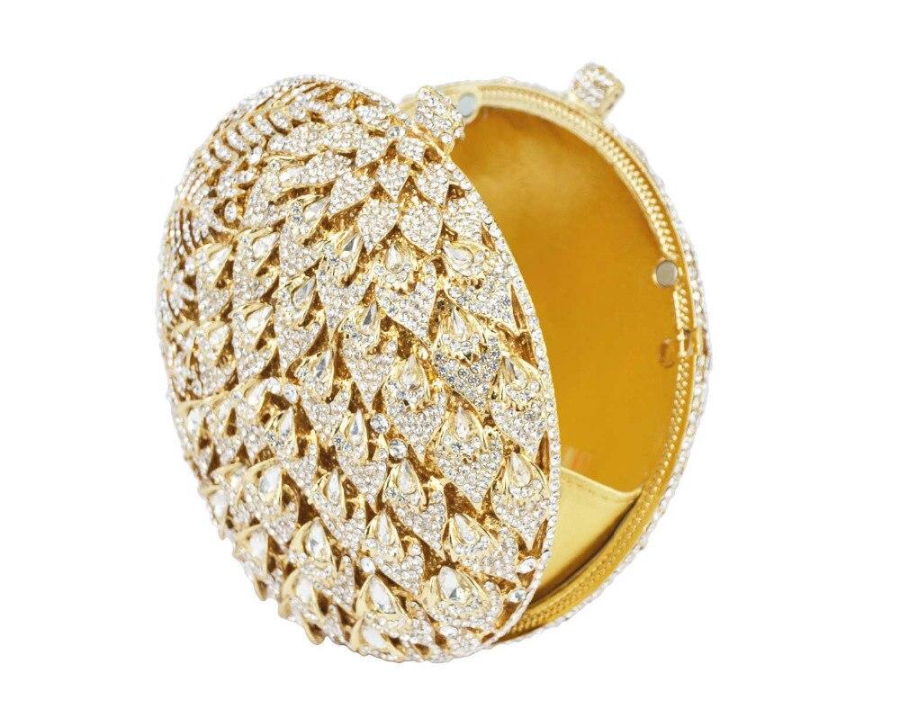 Pochette Colorful Sc036 Mode Luxe Silver Bag gold fpnk Main À Boule Sacs D'embrayage pink champagne colorful Forme gold silver En Dames De Soirée Parti Clutch Cristal Bourse D'or Mariage rRnRgW8