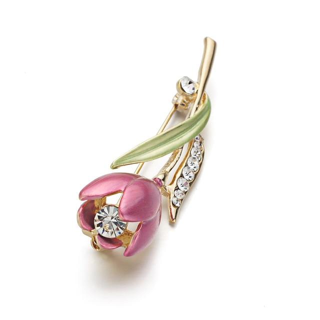 Tulip Flower Brooch Pin