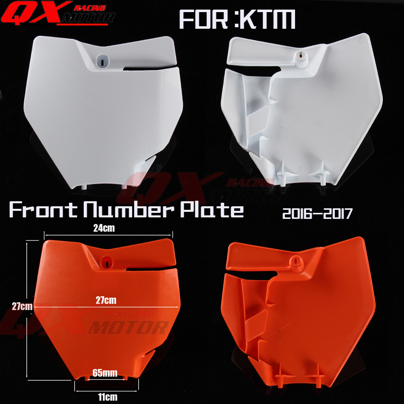 Front Number Plate Plastic Cover for KTM 250/350/450 SX-F/XC-F and 125/150 SX 2016-2017 Motocross Enduro free shipping motorcycle front rider seat leather cover for ktm 125 200 390 duke