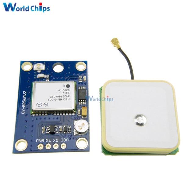 1 stks NEO-6M GPS Module GY-GPS6MV2 NEO6MV2 Buit-in EEPROM APM2.5 Antenne RS232 TTL Board voor Arduino Flight Control 3 v-5 v