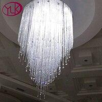 Free Shipping Luxury Stair Light Hot Sala Living Room Modern Crystal Chandelier Long Lustres De Cristal