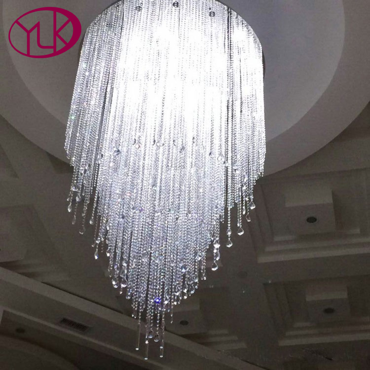 Top Luxury Dimmable Light Chandelier Large Stair Modern Crystal Lamps Long Living Room Lobby Lighting Fixture stair light
