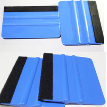 1PCS Car Vinyl Film wrapping tools Blue Scraper squeegee with felt edge size 12.5cm*8cm Styling Stickers Accessories