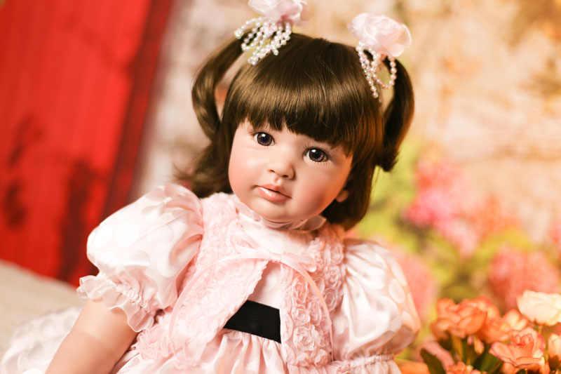 Кукла npk 58 см перерожденные куклы младенцы, 3/4 силиконовая Возрожденный ребенок Куклы Мягкие самодельные игрушки подарки розовый приятель; жилет принцессы для девочек и мальчиков G10