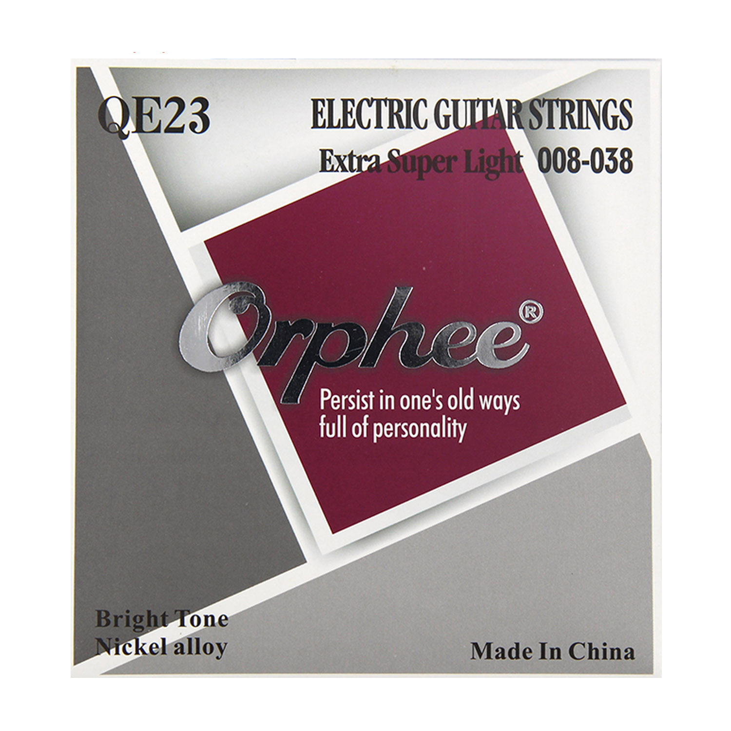 Electric Guitar Strings 008-038 Hexagonal Nickel alloy Orphee QE23 009 042 electric guitar strings color nickel alloy hat cew730