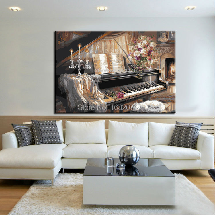 Professional Artist Hand-painted Impression Musical Instrument Piano Oil Painting On Canvas Handmade Piano Oil PaintingsProfessional Artist Hand-painted Impression Musical Instrument Piano Oil Painting On Canvas Handmade Piano Oil Paintings