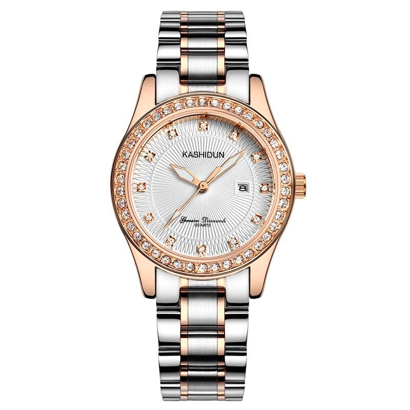 Kashidun Womens Watch Quartz Watch Waterproof Wrist Watches For Women Fashion Band Luminous Popular 2016 Ladies Wristwatches от Aliexpress INT