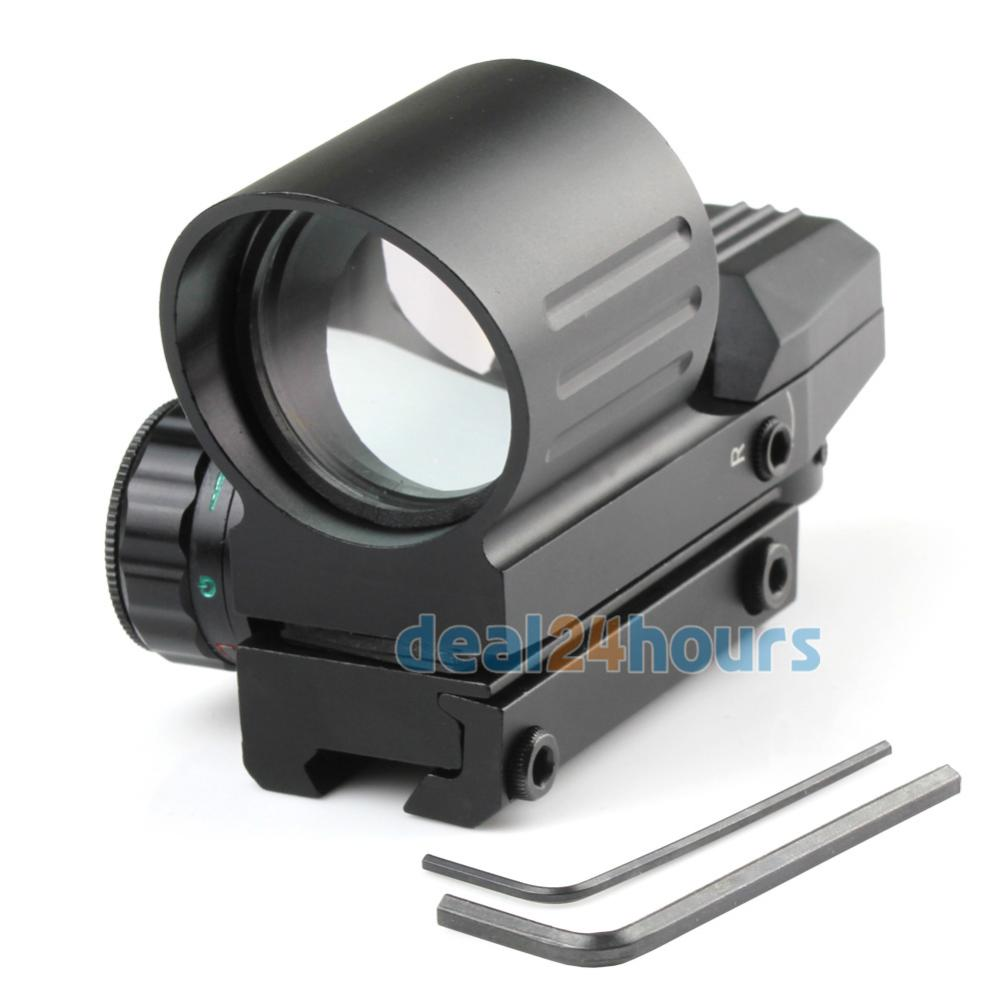 New High Quality Hunting Tactical Holographic Scope 4 Type Reflex Red Green Dot Sight 11mm Rail Free SGP Shipping! 2016 scope leupold new 3 9 32eg zoom sight cross the full range of high definition seismic birding telescopic free shipping