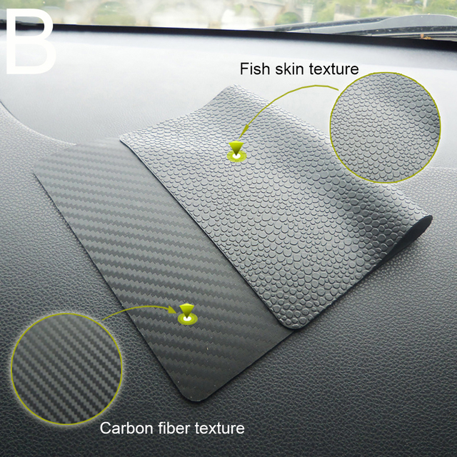 Car Ornament Silicone Automobiles Dashboard Anti Slip Mat Double-sided Non-Slip Sticky Pad For Phone Sunglass Holder 22.5*14.5cm