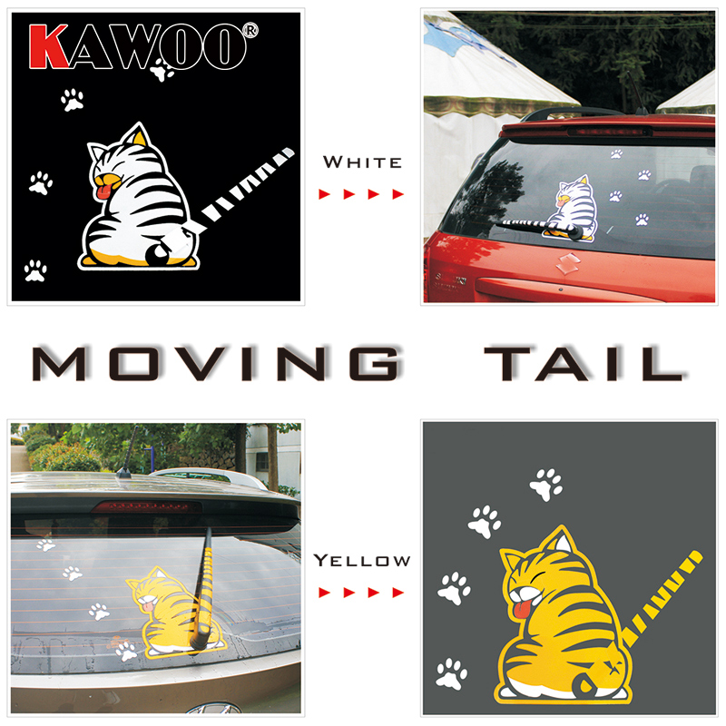 KAWOO Waterproof <font><b>Car</b></font> Stickers Cartoon Fu