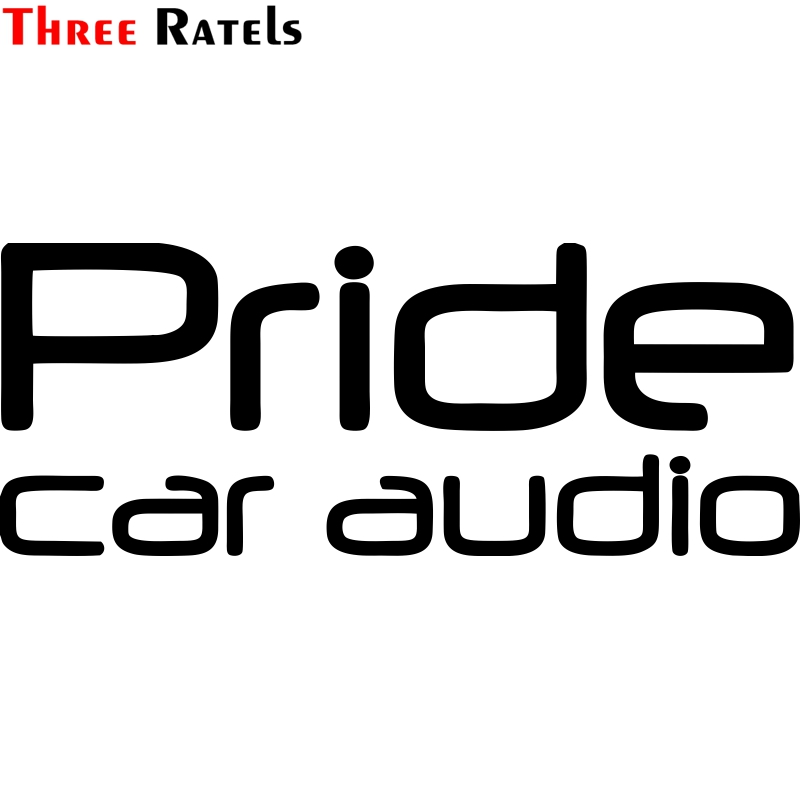Three Ratels TZ-1049 15x38.3cm 9.6*24.5cm 1-4 Pieces Car Sticker Pride Car Audio Funny Car Stickers Auto Decals