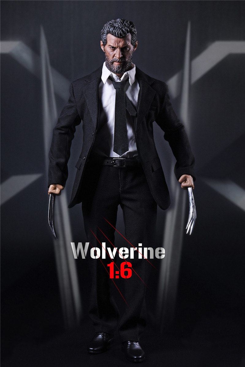 Full Set X-men Wolverine Logan Action Figure 1/6 Scale Black Suit &Head & Body With Wolf Claws Figures Doll Collections 1 6 scale resident evil 6 leon scott kennedy full set action figure for collections