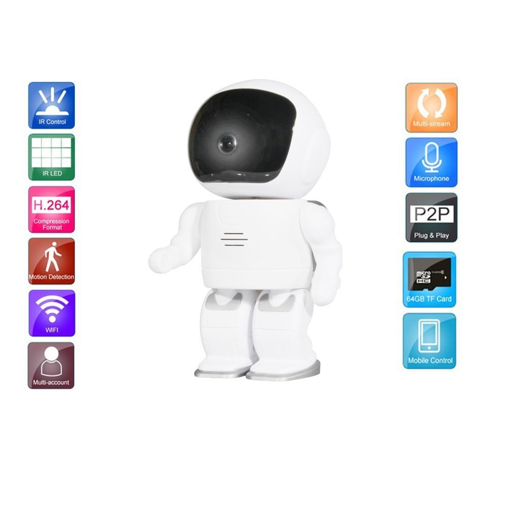 Creative Robot Camera 960P HD Wifi IP/Network Camera Monitoring Camera with Alarm Push Motion Detection IR Cut Indoor Usage escam wifi alarm system 433mhz 1527 motion detection ip camera hd 720p