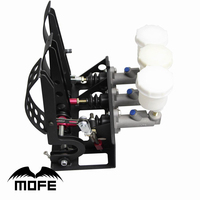 MOFE Products HIGH QUALITY 0.75 inch Master Cylinder Floor Mounted Hydraulic Clutch Brake Bias Pedal Box Kit+3 plastic oil tank
