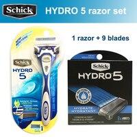 2019 New Original Genuine Schick Hydro 5 Razor Blades Set ( 9 blades + 1 razor ) Best manual shaving razor set for man