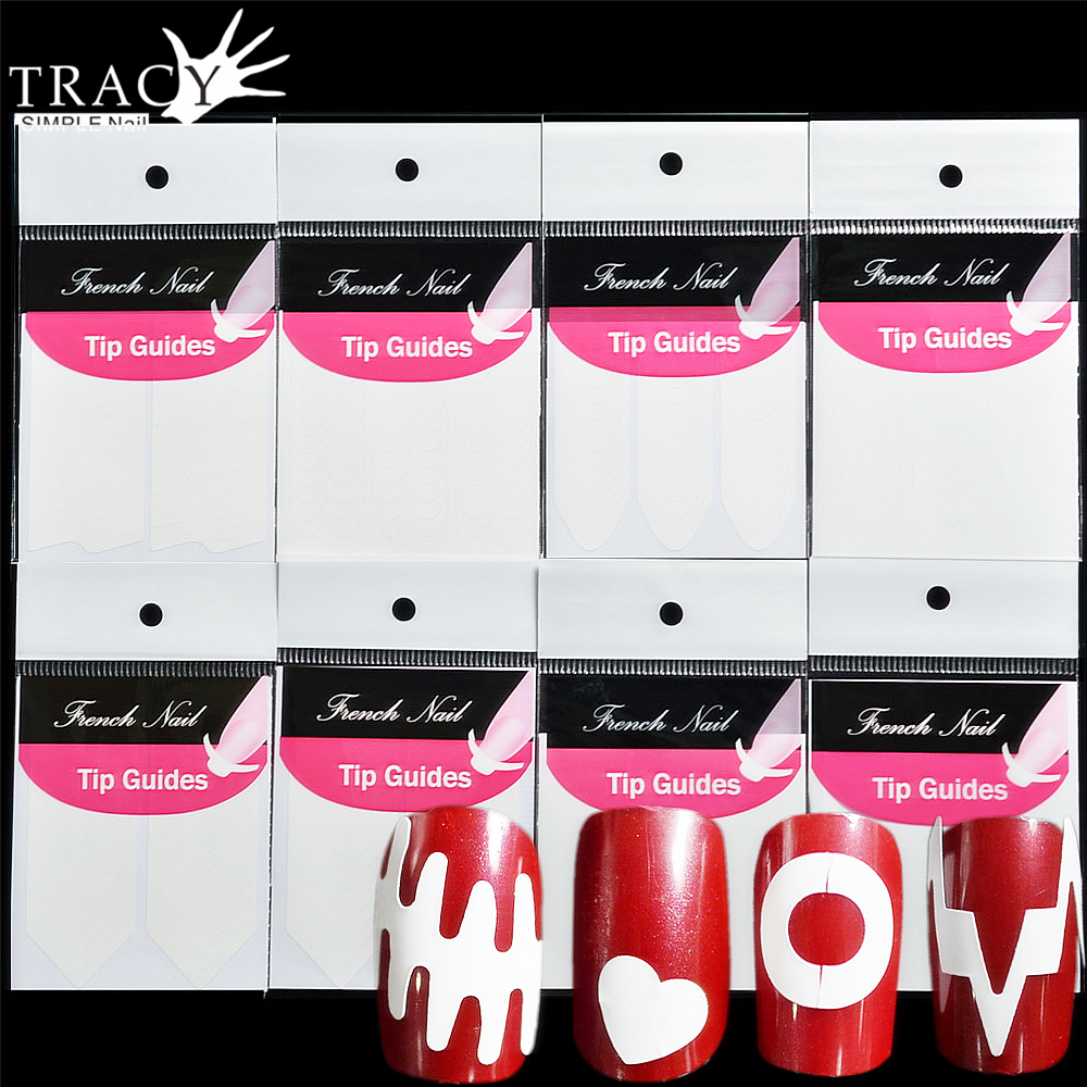 SuperDeals - Tracy Simple Nail 1 Sheet Nail Art French Guide ...