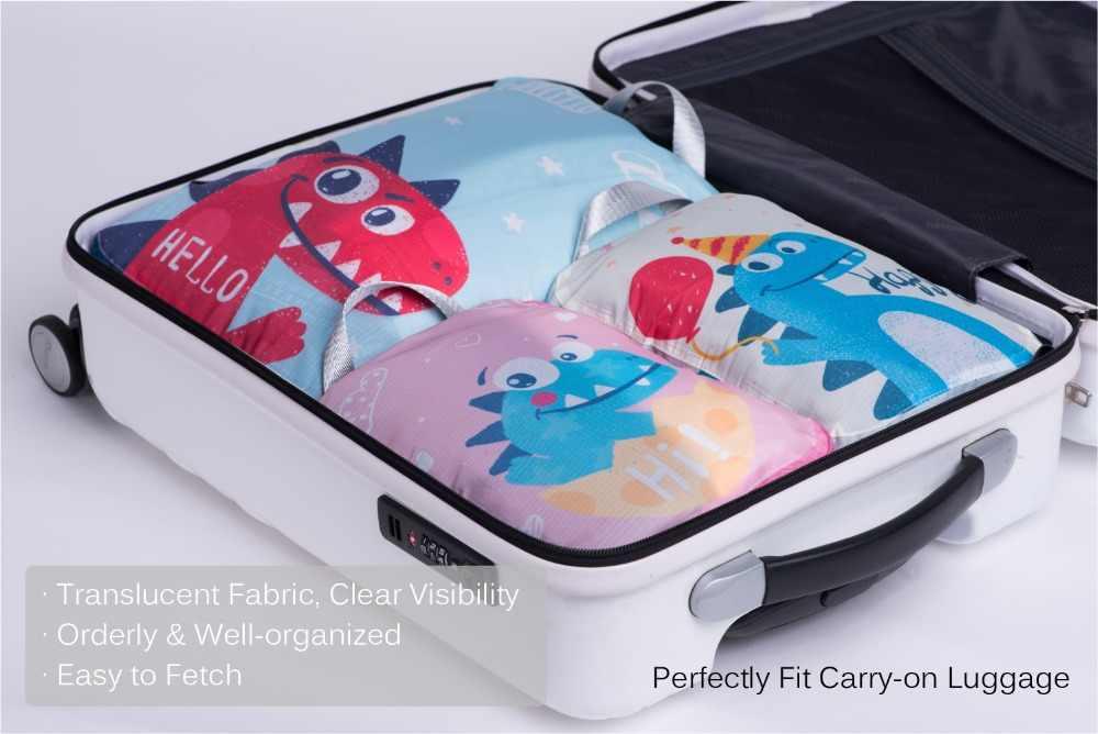 ใหม่กระเป๋าผ้าอ้อมบรรจุ Organizer ชุด 3 pcs การบีบอัดก้อนบรรจุสำหรับเด็กกระเป๋าเดินทาง/กระเป๋าเป้สะพายหลัง Baby Care กลางแจ้ง
