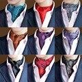 Homens elegantes Polka Dots Geométrica Floral Paisley Ascot Cravat Ties Wide BWTRS0025