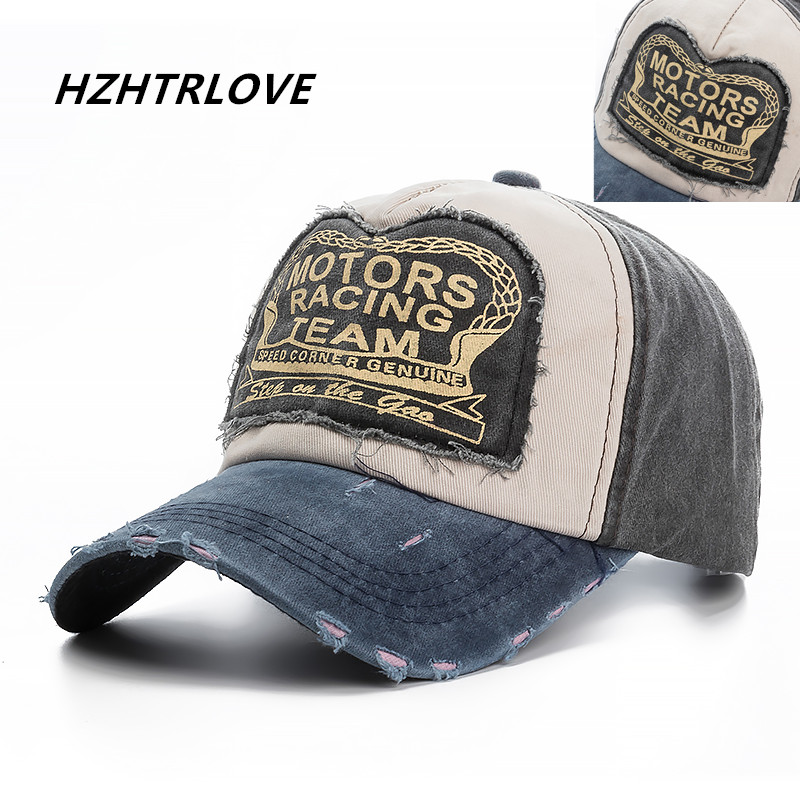 High Quality Washed Cotton Damage Baseball Cap Motor Snapback Hat Hip Hop Dad Hats For Men Women Grinding Multicolor Bone feitong summer baseball cap for men women embroidered mesh hats gorras hombre hats casual hip hop caps dad casquette trucker hat
