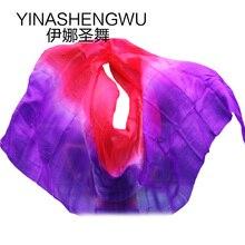 Belly Dance Props Women Silk Veils Veil For Girls red +purple