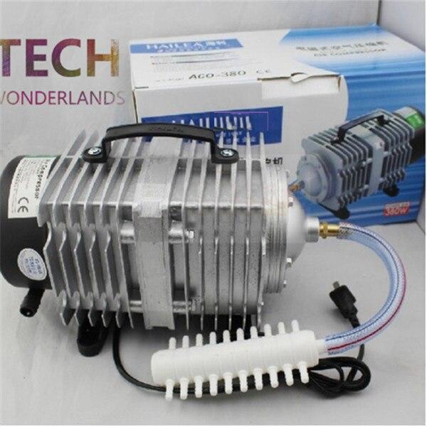Nouveau compresseur d'air électromagnétique d'aquarium 70L/min 45W pompe à air de réservoir de poisson augmentant la pompe à oxygène HAILEA ACO-318