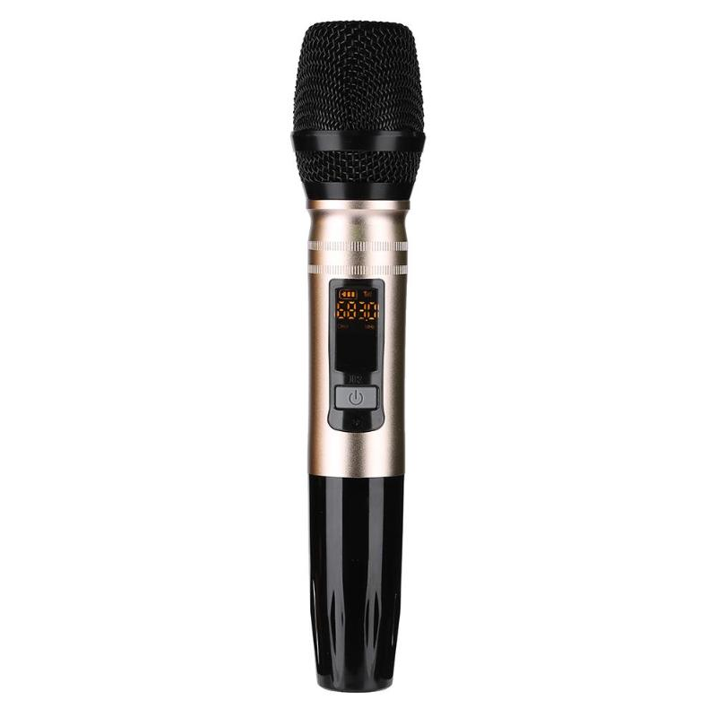 VODOOL Universal Wireless KTV Home Microphone Metal Singing Hosting Conference Performance U Section Microphone High Quality