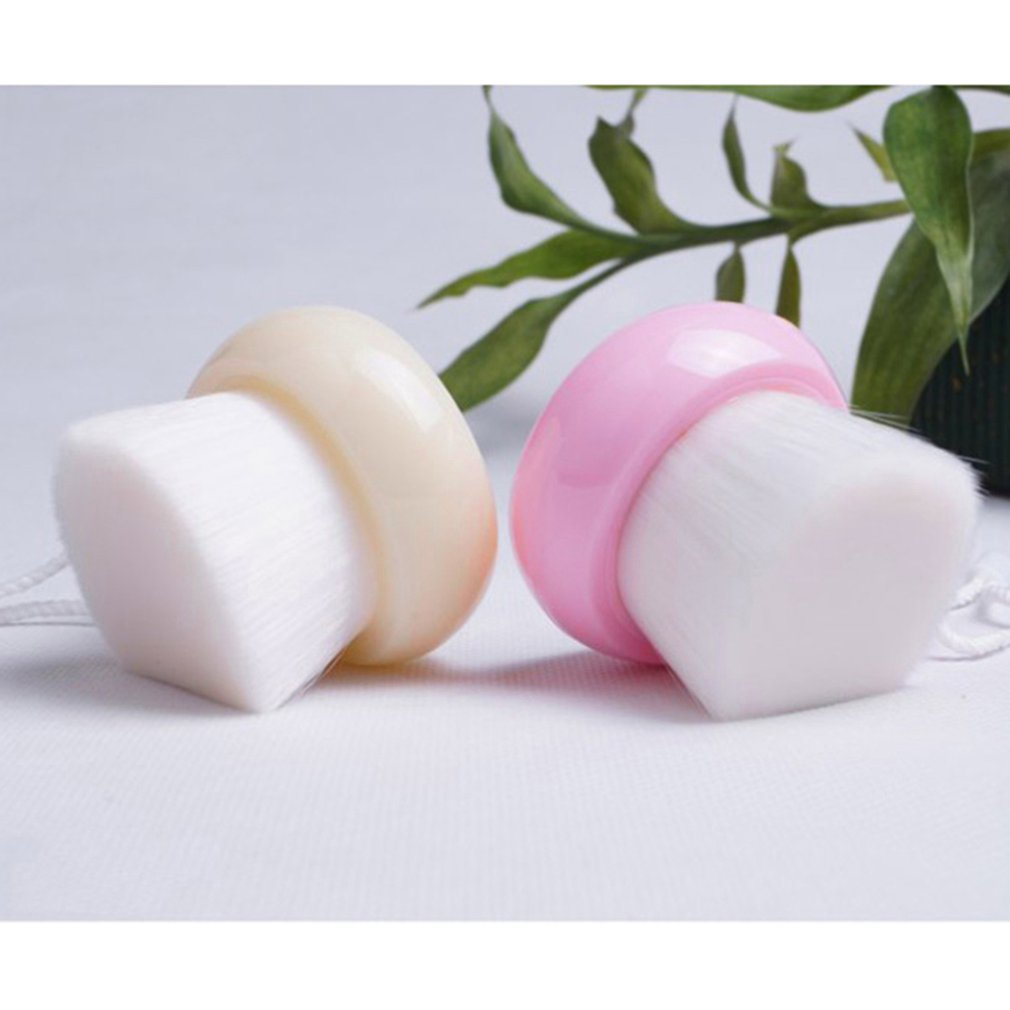 Купить с кэшбэком Korea Spa wash brush face cleaning brush wooden handle manual cleansing brush makeup remover tool